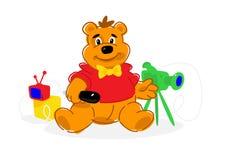小熊的例证 传染媒介平的象 a的例证 免版税库存图片