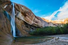 小牛小河秋天,小牛小河峡谷,盛大楼梯埃斯卡兰蒂N 图库摄影