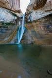 小牛小河秋天,小牛小河峡谷,盛大楼梯埃斯卡兰蒂N 免版税库存图片
