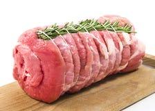 小牛肉烘烤用迷迭香 免版税库存照片
