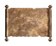 小牛肉皮革老纸卷  背景查出的白色 向量例证
