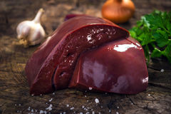 小牛肉肝脏 免版税库存照片