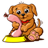 小狗国内宠物传染媒介例证 免版税库存图片