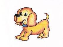 小狗图画 图库摄影