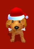 小狗圣诞老人 库存图片