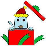 小狗圣诞节礼物 免版税图库摄影