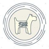 小狗标志 库存照片
