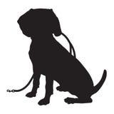 小猎犬剪影皮带 库存例证