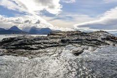 小猎犬海峡,乌斯怀亚,阿根廷 免版税库存照片