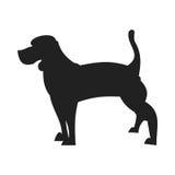 小猎犬黑剪影 库存照片