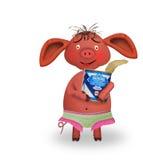 小猪以素质 免版税库存照片