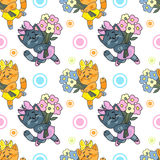 小猫样式 免版税库存图片