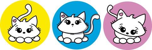 小猫甜点 库存图片