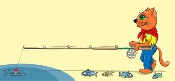 小猫-渔夫 免版税图库摄影