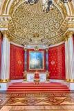 小王位霍尔,埃尔米塔日博物馆,圣彼德堡,俄罗斯 免版税图库摄影