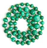 小珠做绿沸铜滚的螺旋 库存图片