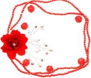 小珠和花框架  库存照片