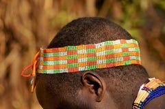 小珠工作在坦桑尼亚 库存图片