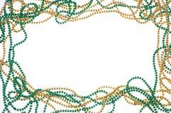 小珠框架金子绿色 库存图片