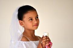 小珠蜡烛儿童念珠 免版税库存照片