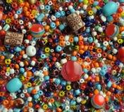 小珠颜色刺绣用品 免版税库存图片