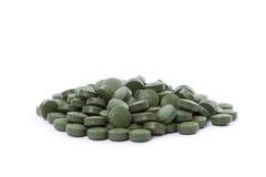 小球藻片剂 库存图片