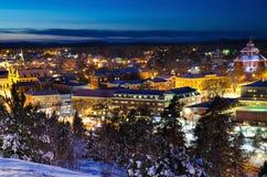 小瑞典镇看法  免版税库存图片