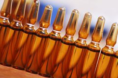 小瓶行  免版税库存图片