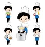 小男孩厨师 免版税库存图片