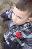 小男孩和鸦片 免版税图库摄影