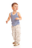 小男孩在工作室 免版税图库摄影
