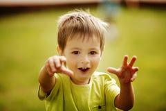 小男孩害怕 库存照片