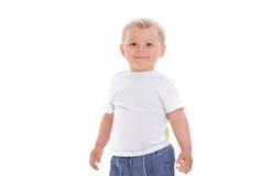 小男孩微笑 图库摄影