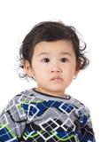 小男孩感受求知欲 图库摄影