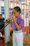 小男孩戏剧xun在厦门市 免版税库存图片