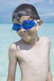小男孩暑假 免版税库存图片