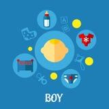 小男孩概念图形设计 免版税图库摄影