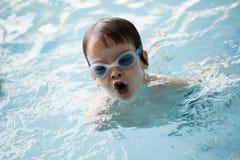 小男孩游泳者 免版税库存图片