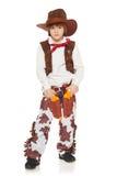小男孩牛仔 免版税库存图片