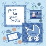 小男孩的照片框架 库存图片
