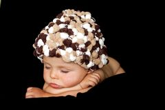 小男婴,睡觉 免版税库存图片