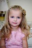 小白肤金发的女孩 库存图片