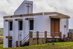 小白色国家教会在关岛 库存照片