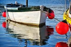 小白色小船 库存图片