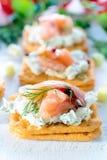 小的三文鱼开胃菜 免版税库存照片