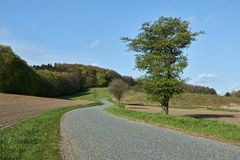 小的乡下公路 免版税库存照片