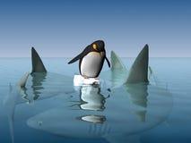 小的企鹅 皇族释放例证