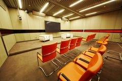 小的会议大厅 免版税库存照片