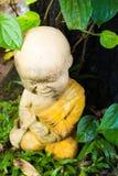 小的修士雕塑 免版税库存照片
