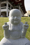 小的修士雕象 库存图片
